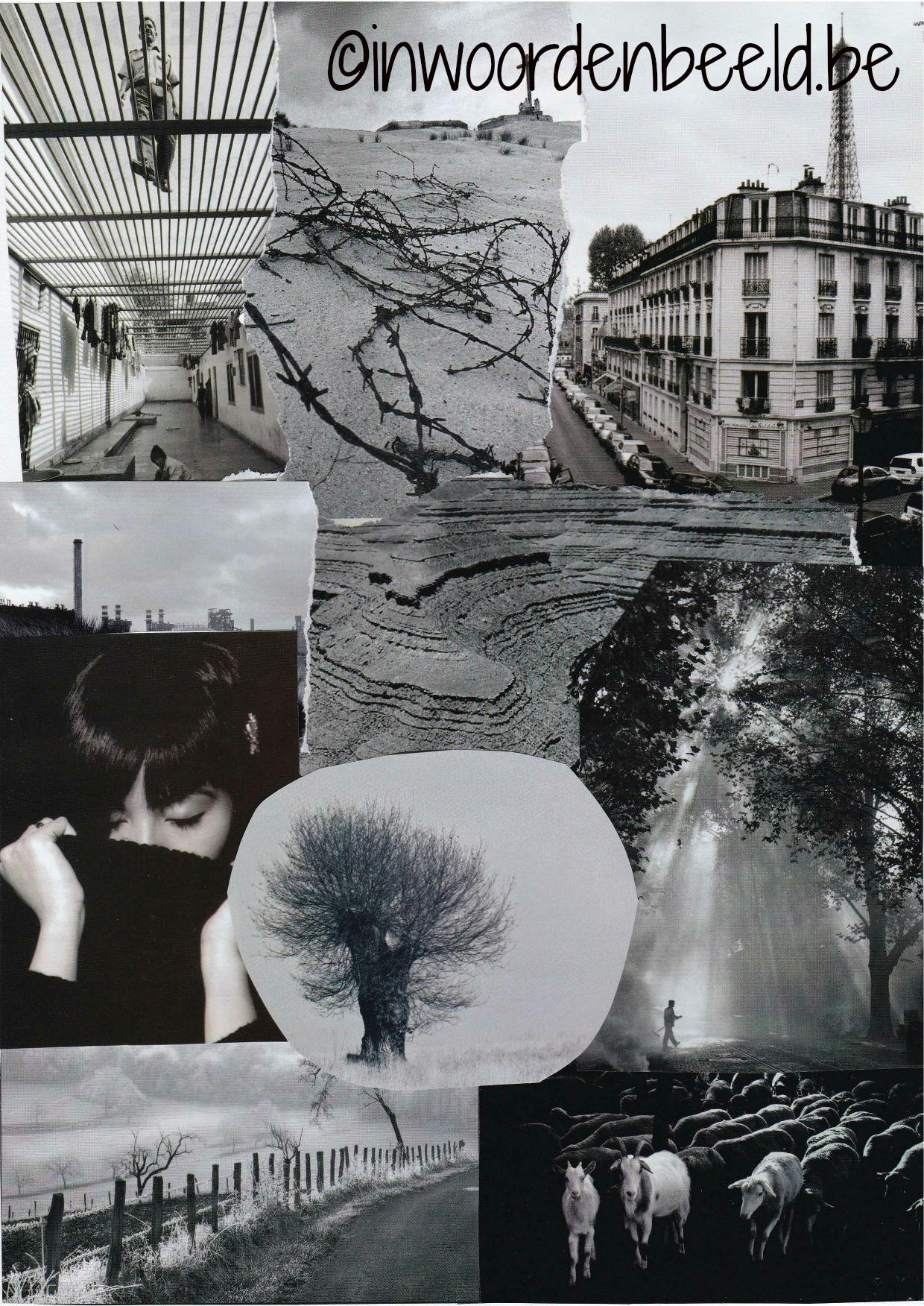 collage zwart-wit bewerkt