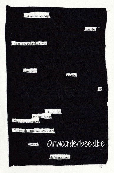 zwarte strepen gedicht bewerkt