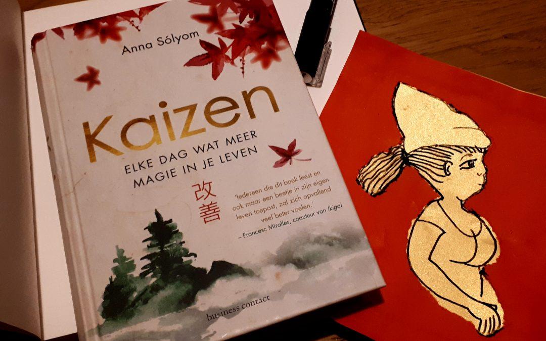 Een boek met een oefening: Kaizen.